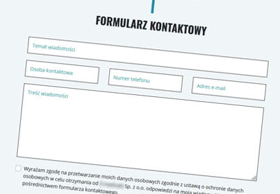 formularz www